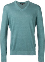 MICHAEL Michael Kors v-neck jumper - men - Cotton/Linen/Flax - L