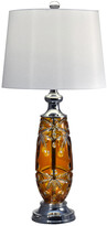 Dale Tiffany Glossy Amber 24% Lead Hand Cut Crystal Table Lamp