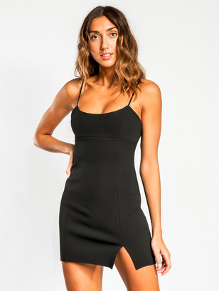 On Diem Mini Dress in Black