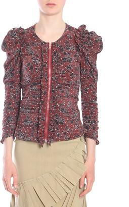 Isabel Marant Bali Floral Puff Sleeve Top