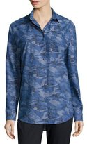 ATM Anthony Thomas Melillo Camouflage Boyfriend Shirt, Royal Combo