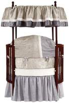 Baby Doll Bedding Baby Doll Round Crib Bedding Set, Beige, 8 Piece