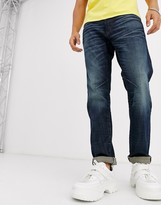 G Star G-Star D-Staq slim fit sustainable 5 pocket jeans in mid wash-Blue