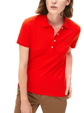 Lacoste Women's Slim-Fit Short-Sleeve Stretch Pique Polo Shirt