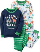 Carter's Baby Boys 4-pc. Bedtime Safari Pajama Set