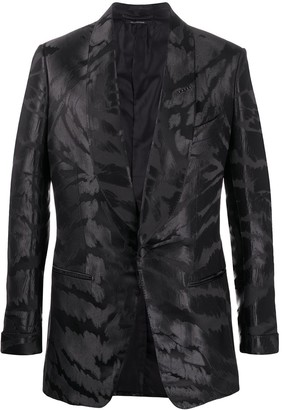 Tom Ford Abstract-Jacquard Satin Tuxedo Jacket