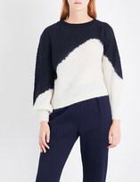 DELPOZO Contrast-panel open-knit jumper