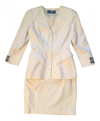 Thierry Mugler White Silk Dresses