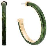 Michael Kors Faux-Jade Hoop Earrings