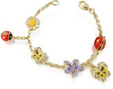 A-Z Collection Garden Line - Enamel Gold Plated Charm Bracelet