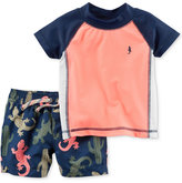 Carter's 2-Pc. Rashguard & Lizard-Print Swim Trunks Set, Baby Boys (0-24 months)