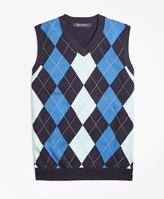 Brooks Brothers Cotton Argyle Sweater Vest