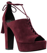 Michael Kors Sylvan Suede Lace-Up Platform Pumps