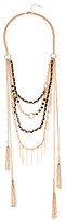 GUESS Multi Chain/Woven and Bead Layer Necklace