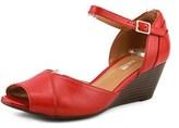 Clarks Brielle Dacy Women W Open Toe Leather Wedge Heel.