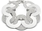 Rebecca R-Zero Rhodium Over Bronze and Steel Maxi Chain Bracelet