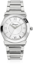 Salvatore Ferragamo Vega Silver Tone Stainless Steel Men's Watch