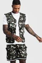 BoohoomanBoohooMAN Mens Multi Utility Vest & Shorts Set, Multi