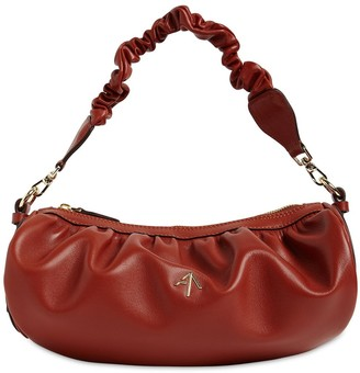 MANU Atelier Ruched Cylinder Soft Leather Bag