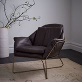 west elm Origami Leather Lounge Chair