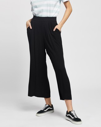 Rusty Women's Black Cropped Pants - Blair Flare Pants - Size One Size, 6 at The Iconic