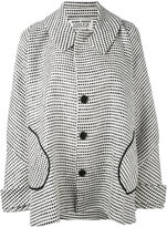 Henrik Vibskov squares oversized coat - women - Cotton/Polyamide/Acetate/Viscose - S
