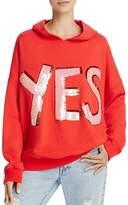 Alice + Olivia Vernie Embellished Hooded Sweatshirt
