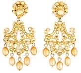 Jose & Maria Barrera Pearl Chandelier Clip-On Earrings
