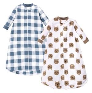 Hudson Baby Baby Girls and Boys Little Bear Long-Sleeve Fleece Sleeping Bag, Pack of 2