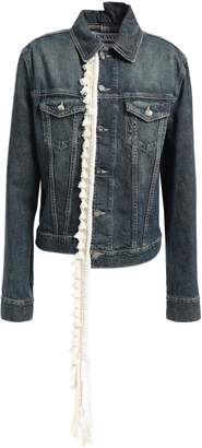 Loewe Tassel And Rope-trimmed Denim Jacket