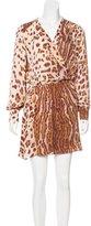Parker Abstract Print Silk Dress w/ Tags