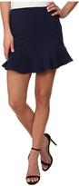 BCBGeneration Curved Ruffle Hem Skirt