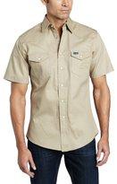 Wrangler Men's Authentic Cowboy Cut Work Western Short Sleeve Shirt