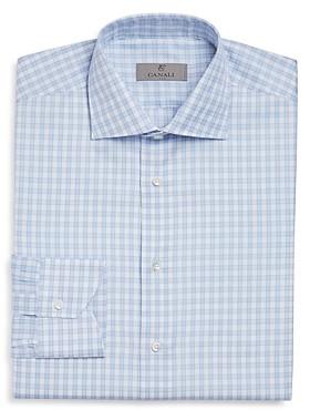 Canali Open-Checked Regular Fit Dress Shirt