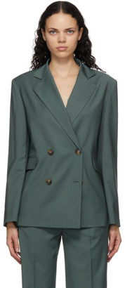 LOULOU STUDIO Green Tatakoto Double Breasted Blazer