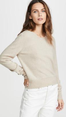 Naadam Cropped Crew Cashmere Sweater