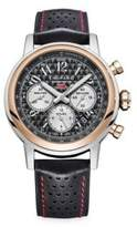 Mille Miglia Chronograph Two-Tone Leather Strap Watch