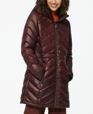 Andrew Marc Nimbus Quilted Hooded Puffer Coat