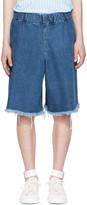 Marques Almeida Blue Denim Track Shorts