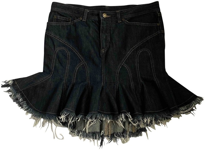 Alexander McQueen Blue Denim - Jeans Skirt for Women