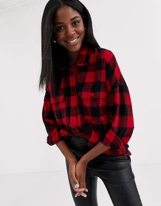 Pimkie check shirt in red