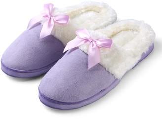 Aerusi Edit Bow Scuff Slip-on Indoor Slippers