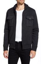 Schott NYC Wool Blend Zip Cardigan