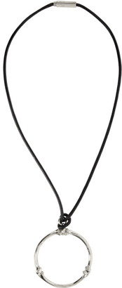 TAKAHIROMIYASHITA TheSoloist. Black and Silver Bone Shaped Necklace