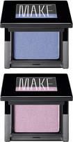 MAKE Satin Finish Eyeshadow Duo (Thistle, Blue Toile)