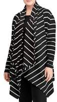 Lauren Ralph Lauren Plus Striped Hooded Cardigan