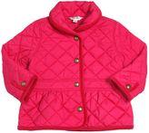 Ralph Lauren Quilted Nylon Jacket W/ Corduroy Details
