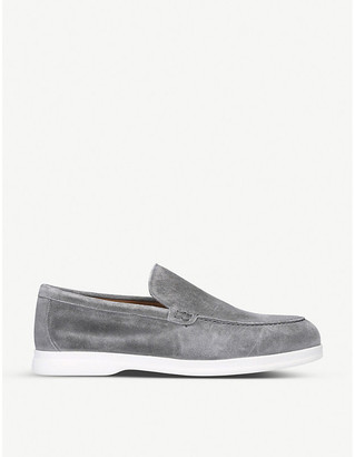 Doucal's Light suede penny loafers