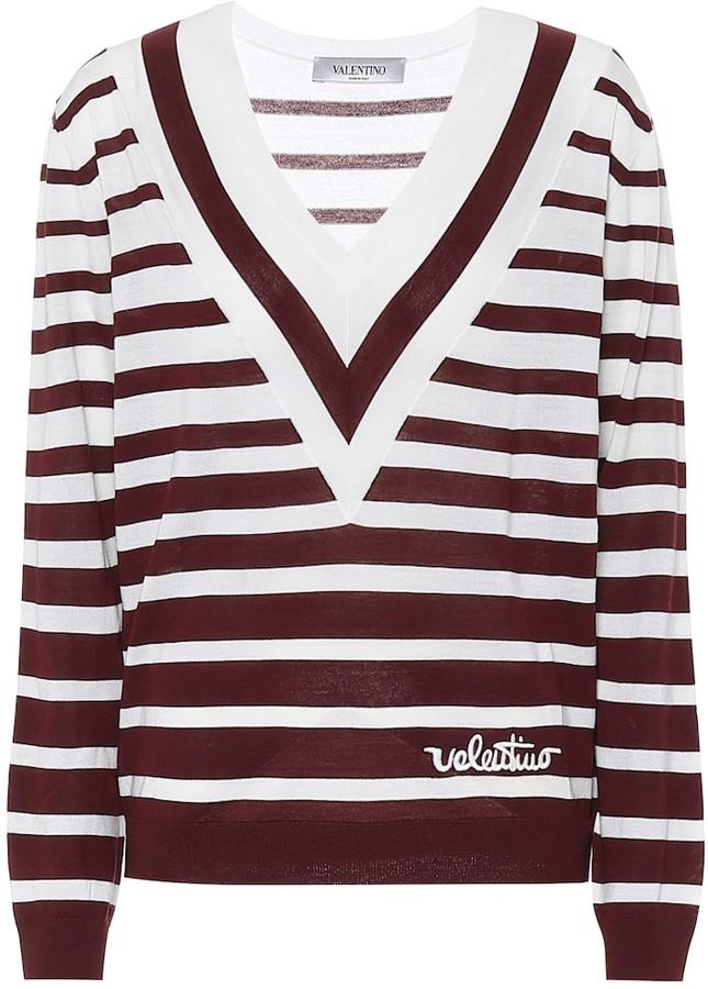 Valentino striped virgin wool sweater