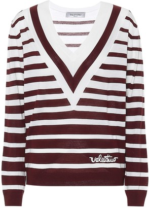 Valentino striped virgin wool sweater